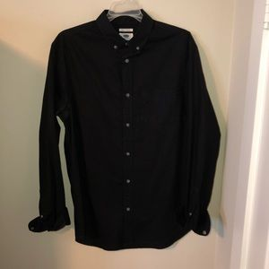 Old Navy Black Button Up